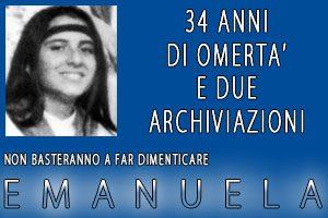 34 anni di omertà per Emanuela. Sit in il 22 giugno