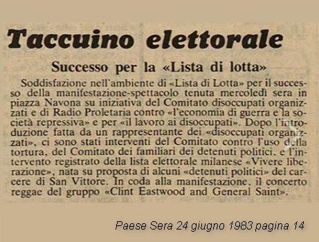 Eventi storia Emanuela Orlandi Mirella Gregori giugno 1983