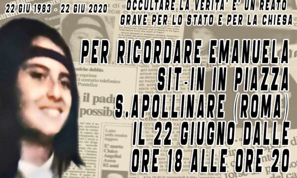 Sit-In per Emanuela a S. Apollinare